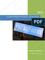 Location Based Services - A Literature Review