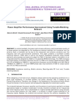 Power Amplifier Performance Improvement Using Tunable Matching