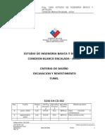 Criterio de Diseño Excavaciones subterráneas en suelos