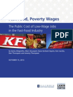 Fast Food Poverty Wages