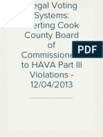 Alerting Cook County to HAVA Part III Violations - December 4 2013