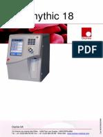 Orphee Mythic 18 Hematology Analyzer - User Manual