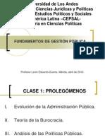 Fundamentos de Gestión Pública clase gobernanza1