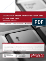 Asia-Pacific Online Payment Methods 2013_Second Half 2013_Standard_by yStats
