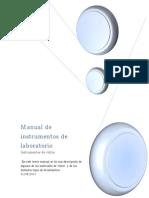 Manual de Instrumentos de Vidrio en El Laboratorio
