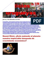 Noticias Uruguayas Jueves 5 de Diciembre Del 2013