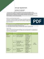 annual agreement