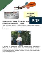 Ex-reitor da UFPB é achado morto dentro de escritório, em João Pessoa