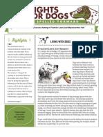 Dog Spelled Forward Newsletter Winter 2009
