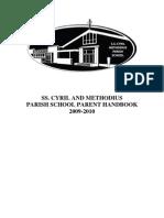 SSCM Parent Handbook August 2009