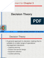 Wk 5 - Chapter 5Supplement Decision Theory