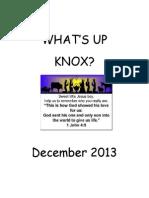Knox December Newsletter