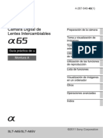 Manual Sony Alfa 65
