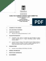 Hamilton Farmers' Market Sub-Committee Agenda