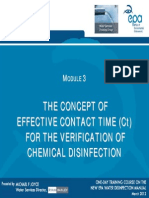 Module 3 Effective Contact Time for Verification of Chemical Disinfection MJoyce 23032012