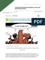 Gmail - [Nuovo Articolo] Considerazioni Sulla Questione Palestinese in Base Alla Sessione Del Tribunale Russell (Marzo 2013)