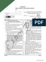UGC Computer Science Paper 3 June 2011