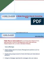 High Places International - IT Milestones