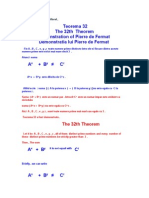 Teorema 32 the 32th Theorem Demonstration of Pierre de Fermat Demonstratia Lui Pierre de Fermat