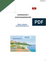 5. Evaporación y Evapotranspiración