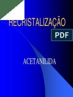 9 - Recristalização da Acetanilida BAC 2000T2