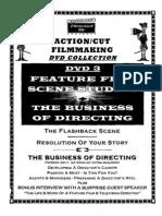 Action Cut Filmaking DVD 3 Workbook