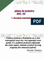 Xi.iii. Romania Si Europa Sec Xx