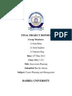 Succession Planning Report