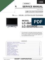 Tv Lcd Sharp Lc26ga5e Lc32ga5e Chassis Sm 206