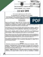 Decreto 2701 Del 22 de Noviembre de 2013