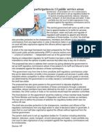 A Law for Private Participation in 13 Public Service Areas