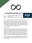 interdepartmental memo 1