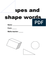 Shapes and Vocabulary