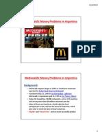 McDonalds' Money Problems in Argentina