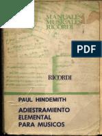 Hindemith Adiestramiento Elemental