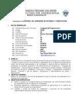 Sylabo x Objetivos Lenguaje de Programacion i Sistemas 2010-II