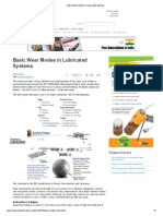 Basic Wear Modes in Lubricated Systems