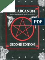 Bg1077 Atlantean Trilogy the Arcanum Bookmarked 2nd Ed. 1985