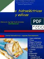 Centrales hidroeléctricas y eólicas