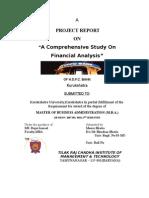 Financial Analysis(HDFC BANK)