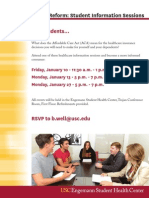 Student Information Sessions - Healthcare Reform 2014
