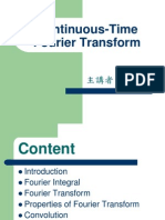 Continous Time Fourier Transform