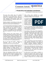 Productivity and individual commitment