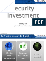 Security investment