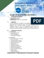 Silabo de Solidworks Basico - 2013