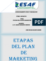 Etapas Del Plan de Marketing