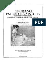 Victor Hugo-L'ignorance est un crépuscule