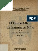 Grupo Mixto de Ingenieros nº4 en la Campaña de Liberación 1936-1939