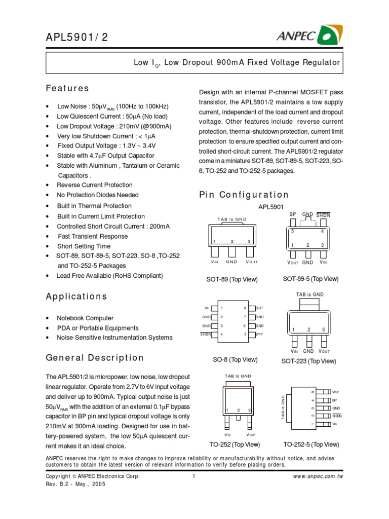 Apl 5902 Capacitor Electronic Engineering General Application Schematic For Mosfet Voltage Regulators With