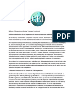 CEI Balance of Competences Review